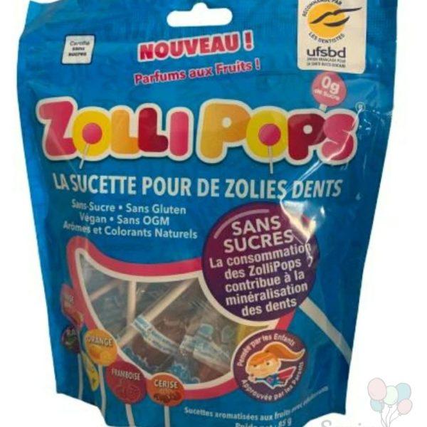 Sucettes Zollipops naturelles sans sucre