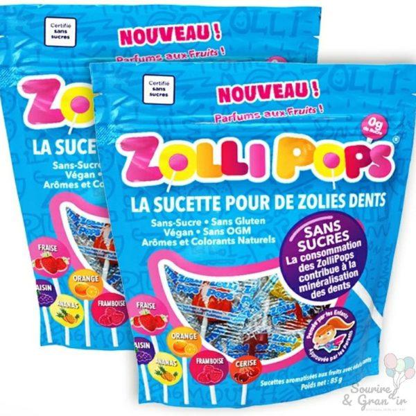 Lot de 2 paquets de sucettes Zollipops