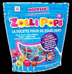 Sucettes Zollipops, les bonbons bons pour la santé