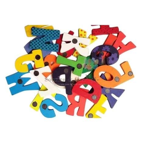 Alphabet aimanté en bois, 26 pièces