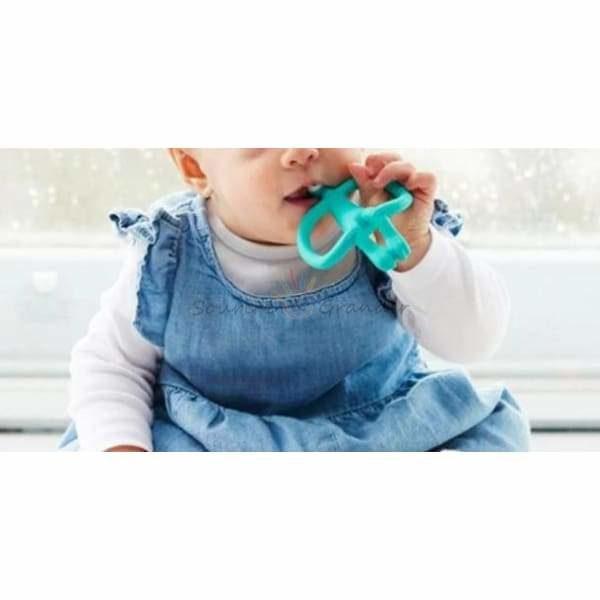 Jouet de dentition pour bébé, singe rigolo + boite