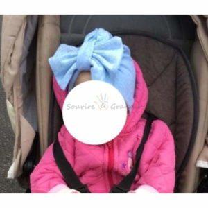 Bonnet à nœud pour bébé fille