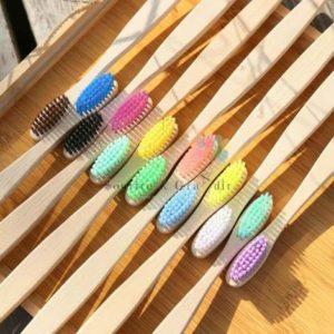Brosse à dents en bois de bambou recyclable, à partir de 2 ans