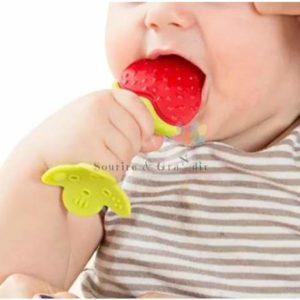Jouet de dentition pour bébé, fruits