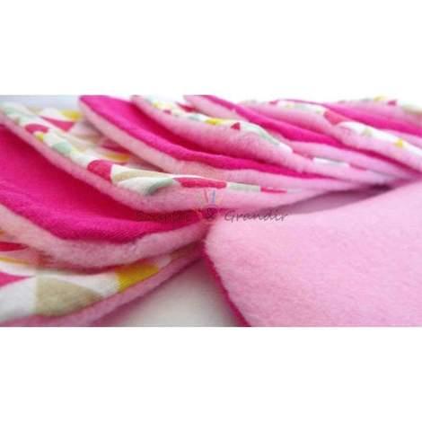 Lot de 10 cotons lavables Oeko-tex pour bébé, rose