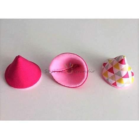 Lot de 6 Tipi pipi pour bébé, rose, fait main