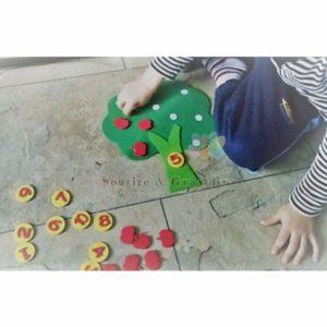 Activités Montessori en feutrine