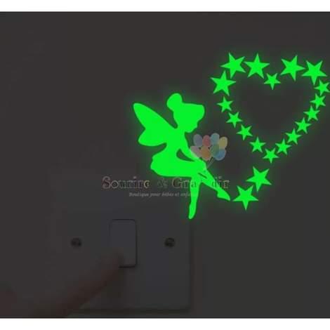 Stickers phosphorescent, Fée