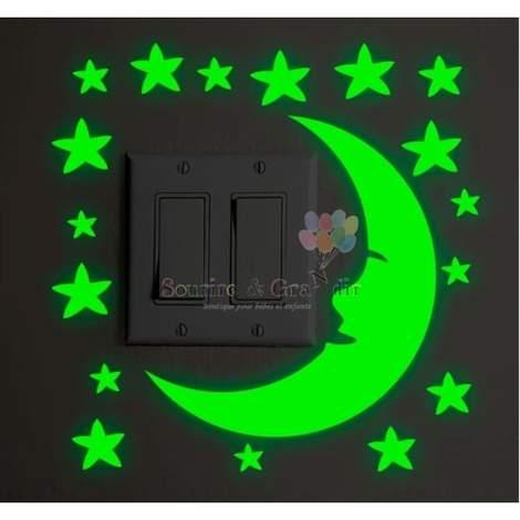 Stickers phosphorescent, Lune