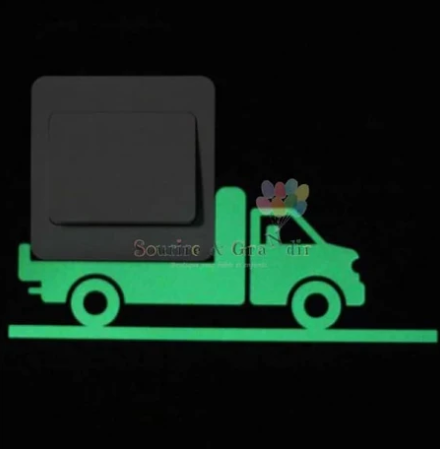 Stickers phosphorescent, Camion