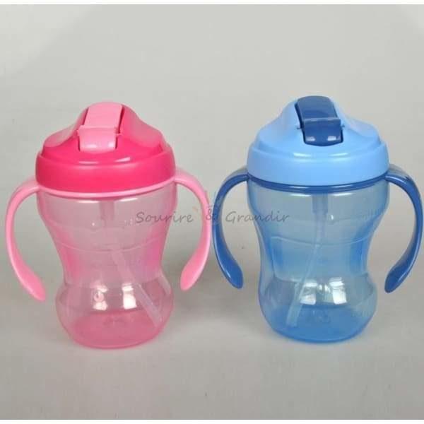 Tasse à paille pour enfant, avec anses*