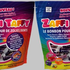 Lot de 2 paquets de bonbons Zaffi Taffy, les bonbons bons pour la santé