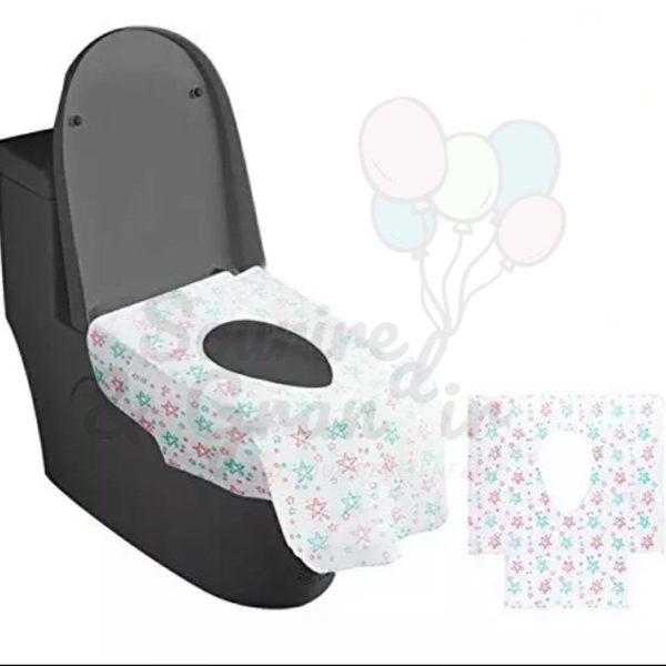 Lot de 5 protections jetables pour cuvette WC