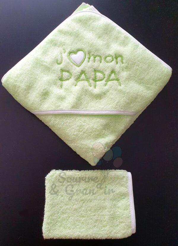 cape de bain bebe papa