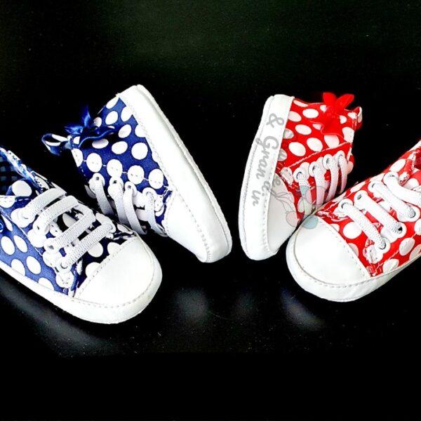 Chaussures souples à pois pour fille, dès 3 mois