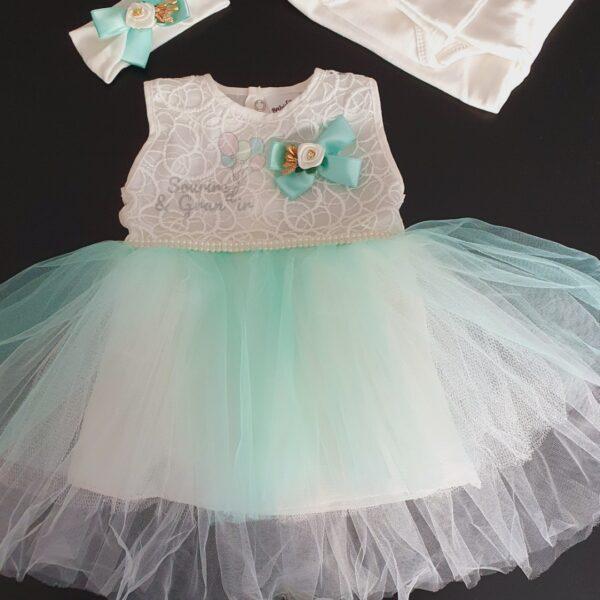Ensemble robe de cérémonie naissance, Vert