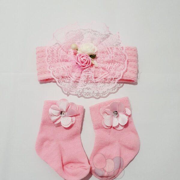 Ensemble d'accessoires bébé, 2 pièces rose