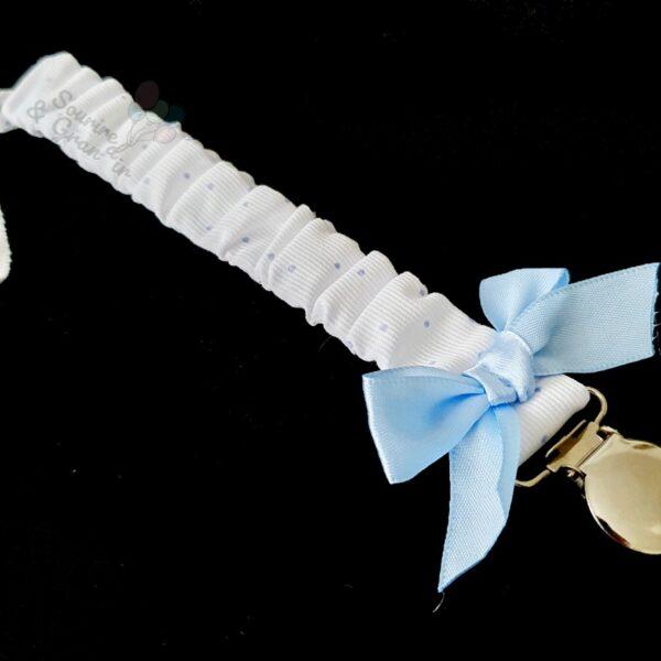 Attache-tétine élastique à nœud satiné