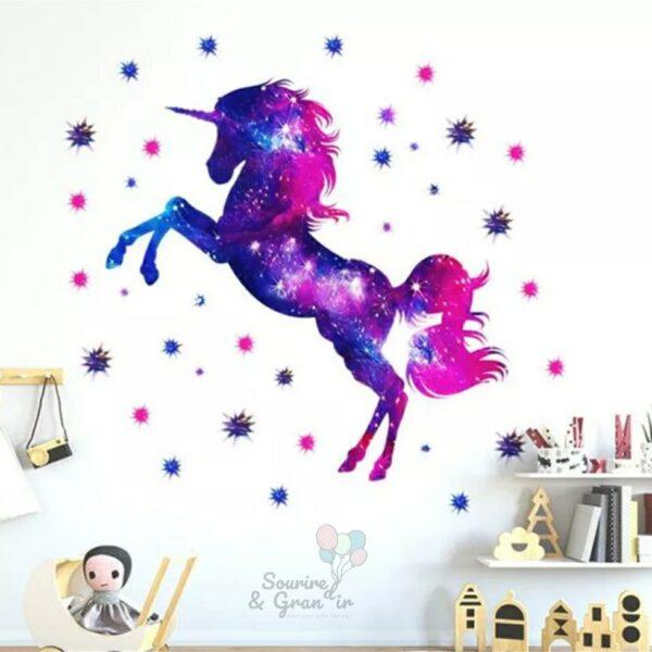 Stickers décoration de chambre d'enfant, Licorne*
