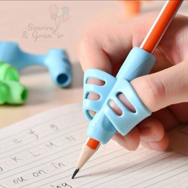 Aide-écriture pour gaucher et droitier, silicone