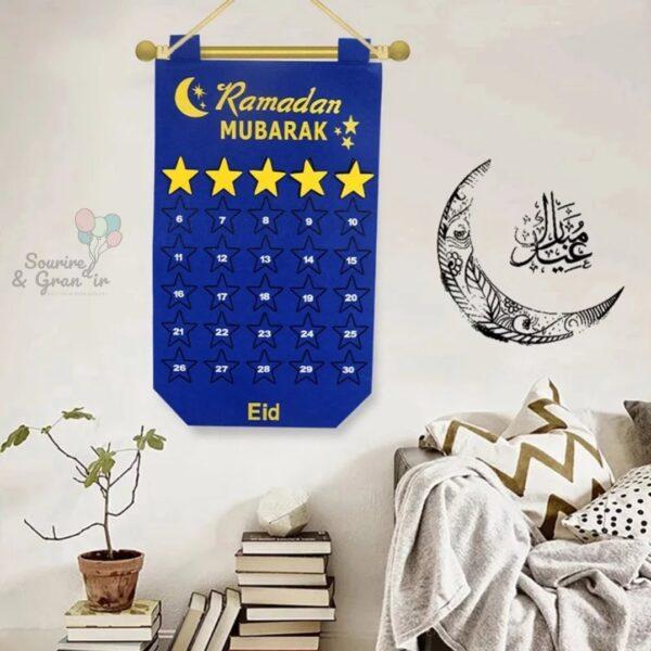 Calendrier ramadan/aid bleu
