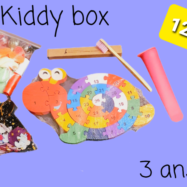 Kiddy box, chriffres et lettres à partir de 3 ans+