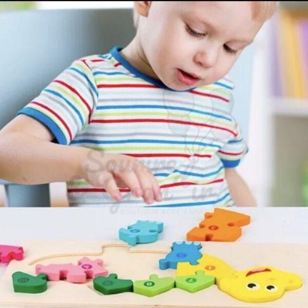 Puzzle géant avec chiffres, 2 modèles