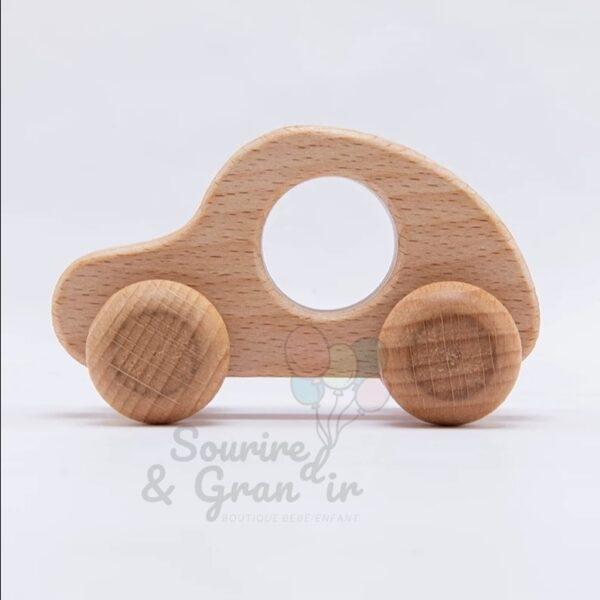 Voiture en bois à rouler