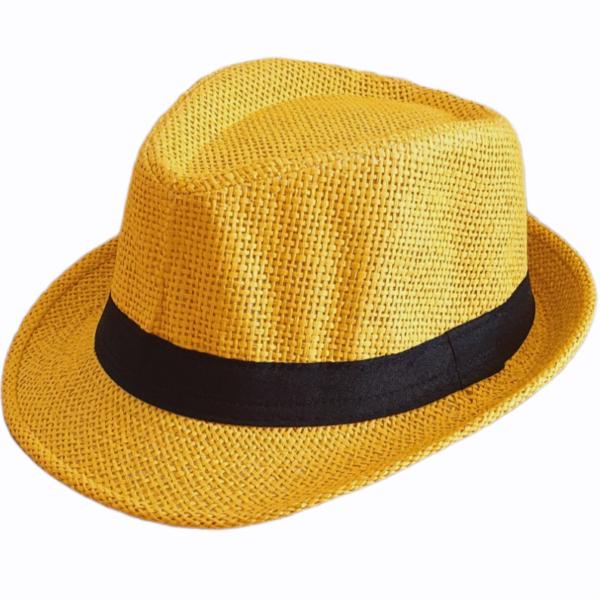 Chapeau de paille classique pour enfant, 4 couleurs*