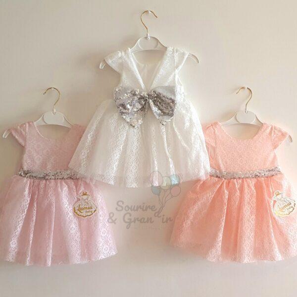 Robe de princesse pour bébé, 3 couleurs
