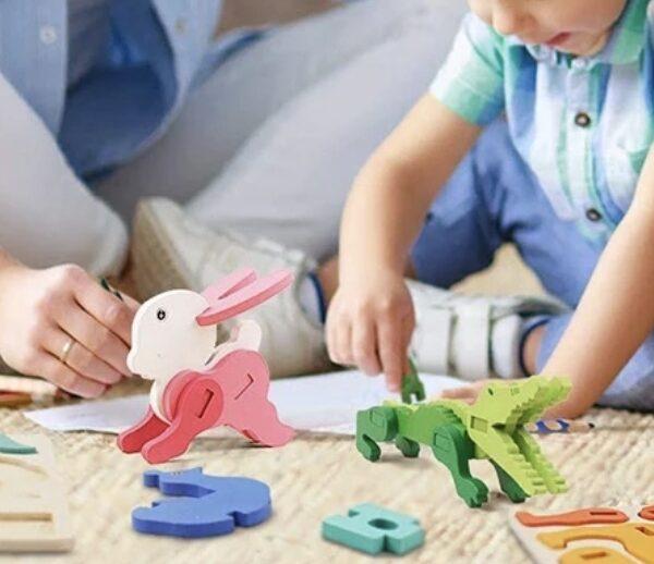Puzzle 3D à construire, 3 modèles
