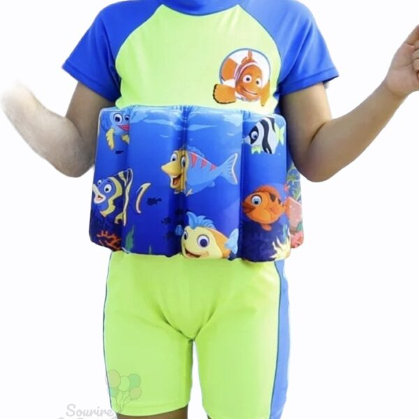 Maillot de bain enfant ceinture flottante intégrée