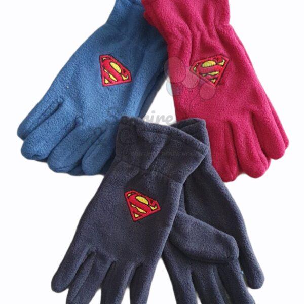Gants polaires pour garçon, Superman, 6-12 ans