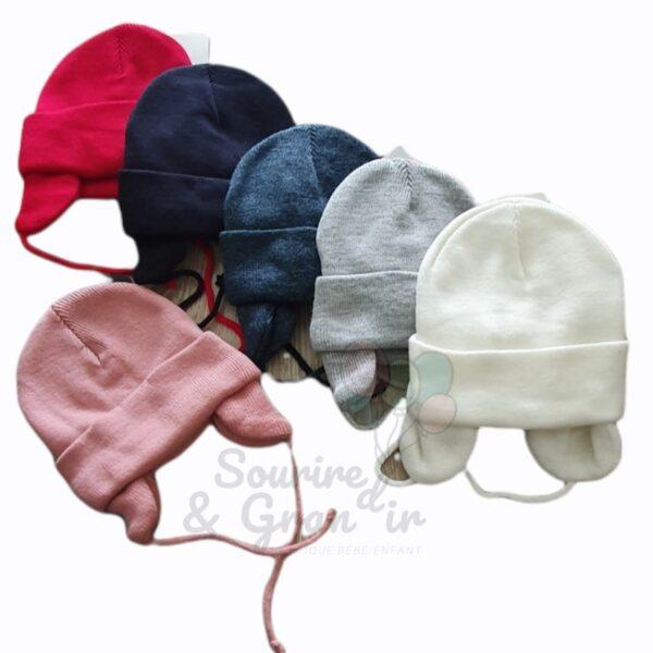 Bonnet cache oreille pour bébé, 0-2 ans
